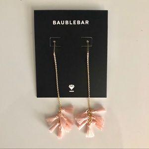 Lilly Tassel Drop Earrings (Blush) by Baublebar